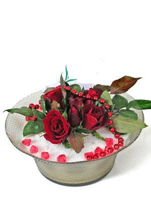 Eskişehir çiçek mağazası , çiçekçi adresleri  EN ÇOK Sevenlere 7 adet kirmizi gül mika yada cam tanzim