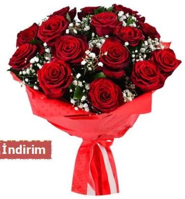 12 Adet kırmızı aşk gülleri  Eskişehir online çiçek gönderme sipariş