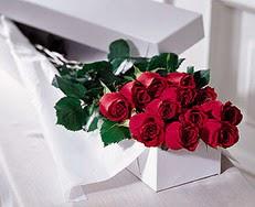 Eskişehir online çiçek gönderme sipariş  özel kutuda 12 adet gül