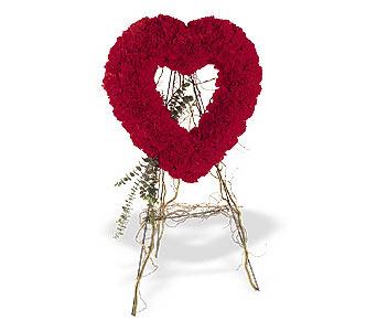Eskişehir hediye sevgilime hediye çiçek  karanfillerden kalp pano