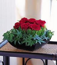 Eskişehir anneler günü çiçek yolla  10 adet kare mika yada cam vazoda gül tanzim