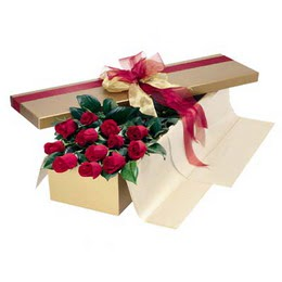 Eskişehir yurtiçi ve yurtdışı çiçek siparişi  10 adet kutu özel kutu