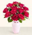 Eskişehir uluslararası çiçek gönderme  10 kirmizi gül cam yada mika vazo tanzim