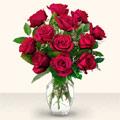 Eskişehir çiçekçiler  10 adet gül cam yada mika vazo da