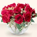 Eskişehir çiçek yolla  mika yada cam içerisinde 10 gül - sevenler için ideal seçim -