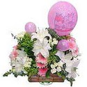 balon ve çiçeklerle tanzim  Eskişehir hediye sevgilime hediye çiçek