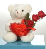 3 adetgül ve oyuncak   Eskişehir hediye çiçek yolla