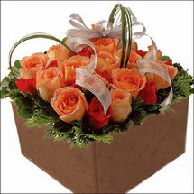kare sandikta 11 gülllerden   Eskişehir 14 şubat sevgililer günü çiçek