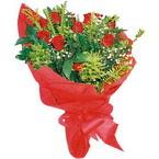 10 adet kirmizi gül buketi  Eskişehir çiçekçiler