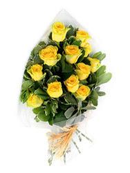 Eskişehir çiçek , çiçekçi , çiçekçilik  12 li sari gül buketi.