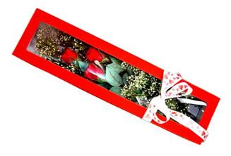 Eskişehir uluslararası çiçek gönderme  Kutuda 3 adet gül