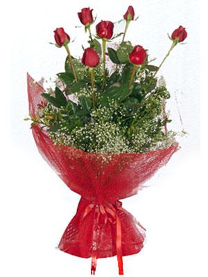 Eskişehir çiçek gönderme  7 adet gülden buket görsel sik sadelik