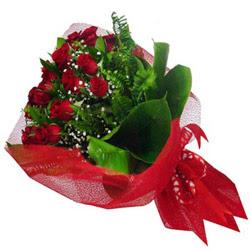 Eskişehir çiçek satışı  12 adet kirmizi essiz gül buketi - SEVENE ÖZEL