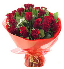 Eskişehir İnternetten çiçek siparişi  11 adet kimizi gülün ihtisami buket modeli