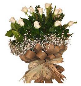 Eskişehir çiçek siparişi vermek  9 adet beyaz gül buketi
