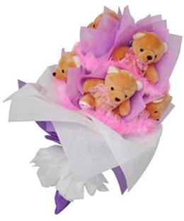 9 adet ayiciktan buket  Eskişehir çiçek gönderme sitemiz güvenlidir