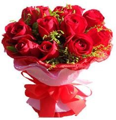 9 adet kirmizi güllerden kipkirmizi buket  Eskişehir çiçek online çiçek siparişi
