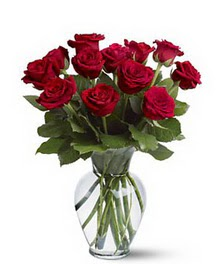 Eskişehir internetten çiçek satışı  cam yada mika vazoda 10 kirmizi gül
