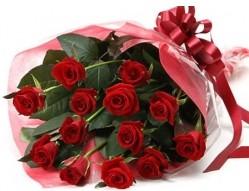 Eskişehir İnternetten çiçek siparişi  10 adet kipkirmizi güllerden buket tanzimi