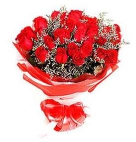 Eskişehir çiçekçi telefonları  12 adet kırmızı güllerden görsel buket
