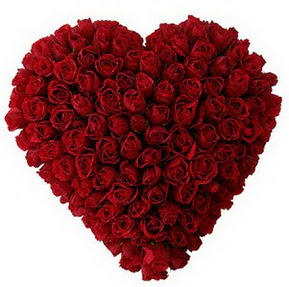 Eskişehir 14 şubat sevgililer günü çiçek  muhteşem kırmızı güllerden kalp çiçeği