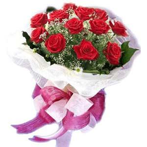 Eskişehir online çiçek gönderme sipariş  11 adet kırmızı güllerden buket modeli