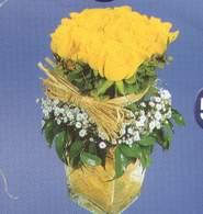 Eskişehir İnternetten çiçek siparişi  Cam vazoda 9 Sari gül