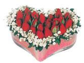 Eskişehir çiçek siparişi vermek  mika kalpte kirmizi güller 9