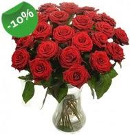 Vazo içerisinde 25 adet kırmızı gül  Eskişehir güvenli kaliteli hızlı çiçek