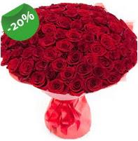 Özel mi Özel buket 101 adet kırmızı gül  Eskişehir İnternetten çiçek siparişi