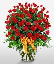 Görsel vazo içerisinde 101 adet gül  Eskişehir güvenli kaliteli hızlı çiçek