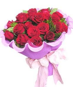 12 adet kırmızı gülden görsel buket  Eskişehir 14 şubat sevgililer günü çiçek