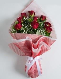 9 adet kırmızı gülden buket  Eskişehir online çiçek gönderme sipariş