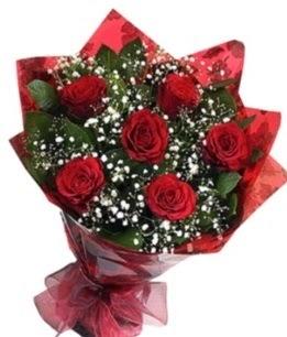 6 adet kırmızı gülden buket  Eskişehir ucuz çiçek gönder