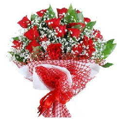 11 kırmızı gülden buket  Eskişehir çiçek yolla , çiçek gönder , çiçekçi