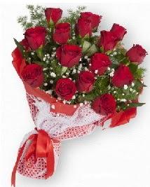 11 kırmızı gülden buket  Eskişehir çiçek , çiçekçi , çiçekçilik