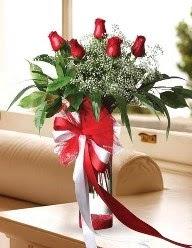 Camda 5 kırmızı gül tanzimi  Eskişehir çiçek siparişi vermek