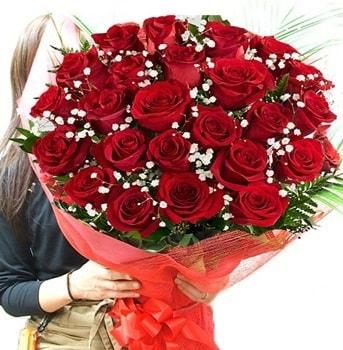 Kız isteme çiçeği buketi 33 adet kırmızı gül  Eskişehir internetten çiçek satışı