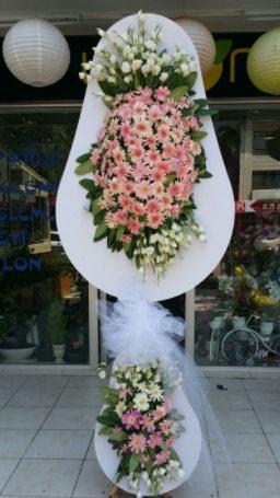 Çift katlı özel şahane sepet çiçeği  Eskişehir çiçek siparişi vermek