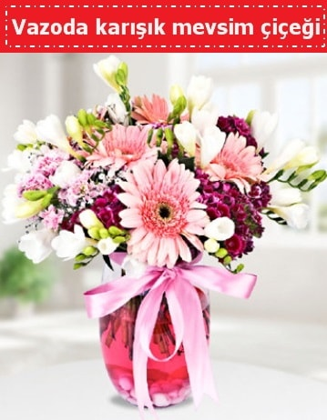 Vazoda karışık mevsim çiçeği  Eskişehir cicek , cicekci