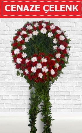 Kırmızı Beyaz Çelenk Cenaze çiçeği  Eskişehir çiçek siparişi sitesi