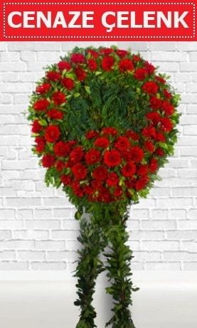 Kırmızı Çelenk Cenaze çiçeği  Eskişehir çiçek siparişi sitesi