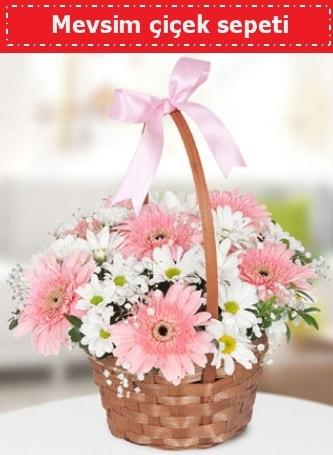 Mevsim kır çiçek sepeti  Eskişehir cicek , cicekci