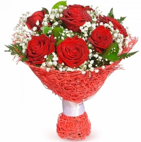 7 adet kırmızı gül buketi  Eskişehir çiçek online çiçek siparişi
